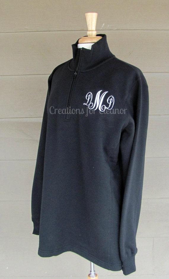 Womens Monogram Pullover, Womens Monogrammed Quarter Zip Sweatshirt, Half Zip Sweatshirt, Monogrammed Sweatshirt, Custom Sweatshirt