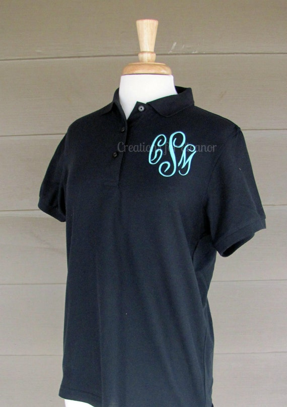 Womens Monogram Polo Shirt, Monogram Polo, Monogrammed Polo Shirt, Womens Monogrammed Shirt, Womens Polo Shirt, Womens Monogram Pullover