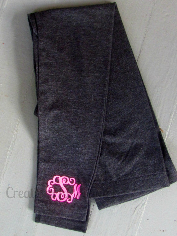 Girls Monogrammed Leggings, Monogrammed Leggings, Leggings, Girls Monogrammed Pants, Monogrammed Pants, Girls Pants, Personalized Leggings