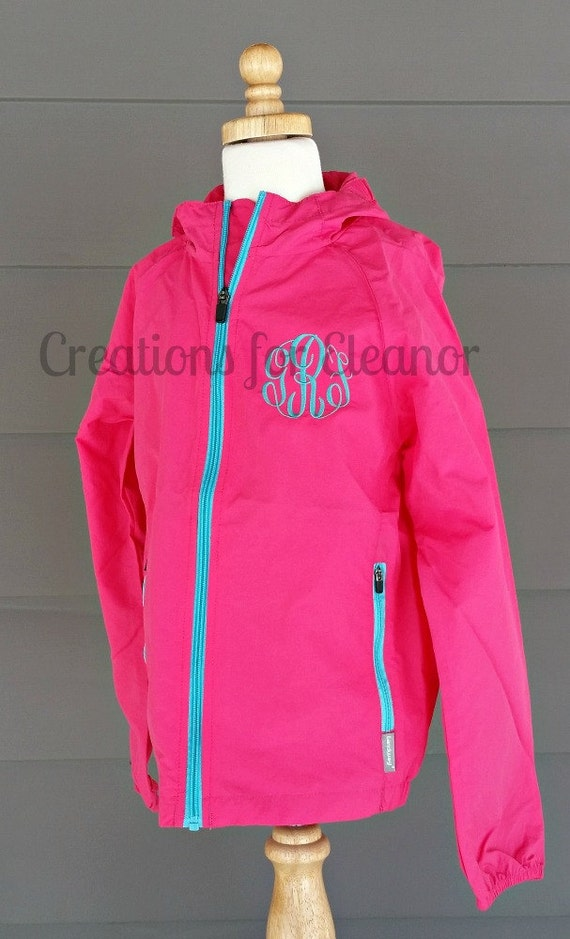 Children's Monogrammed Windbreaker, Girls Windbreaker, Windbreaker, Monogrammed Windbreaker, Children's Coat, Girl's Coat, Monogrammed Coat