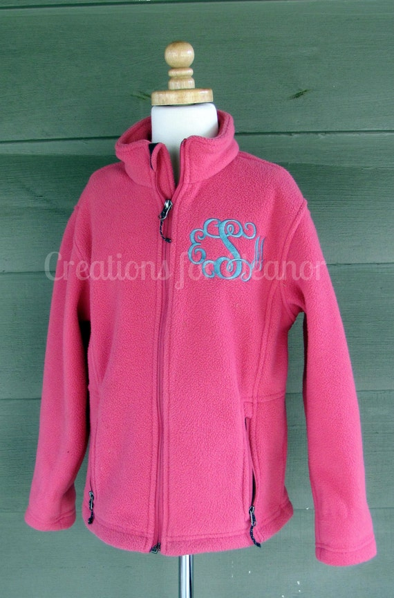Kids Monogrammed Fleece Jacket, Youth Monogrammed Full Zip Fleece Jacket, Children Monogram Jacket, Boys Fleece Jacket, Girls Fleece Jacket