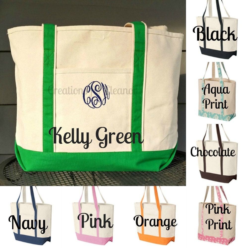Monogrammed Beach Towel And Bag Set: Monogrammed Beach Towel And Tote Bag, Monogram Beach Set