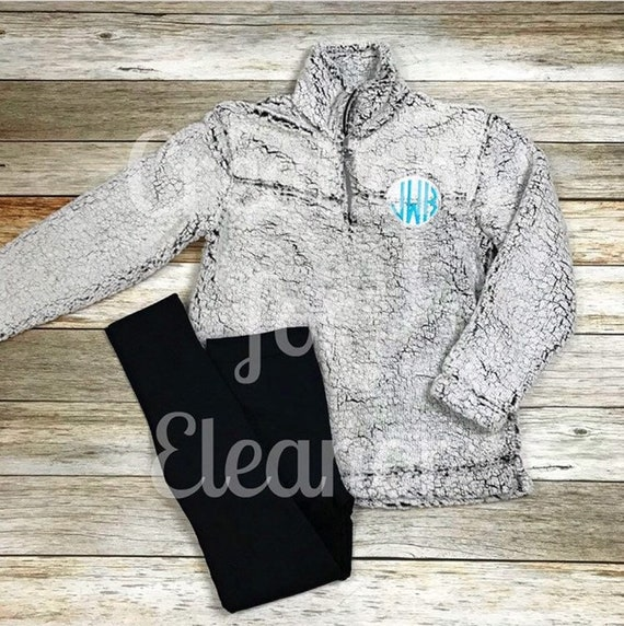 Womens Monogrammed Fleece Coat, Monogrammed Pullover, Fleece Sherpa Coat, Personalized Fleece Coat, Personalized Fleece Jacket, Quarter Zip