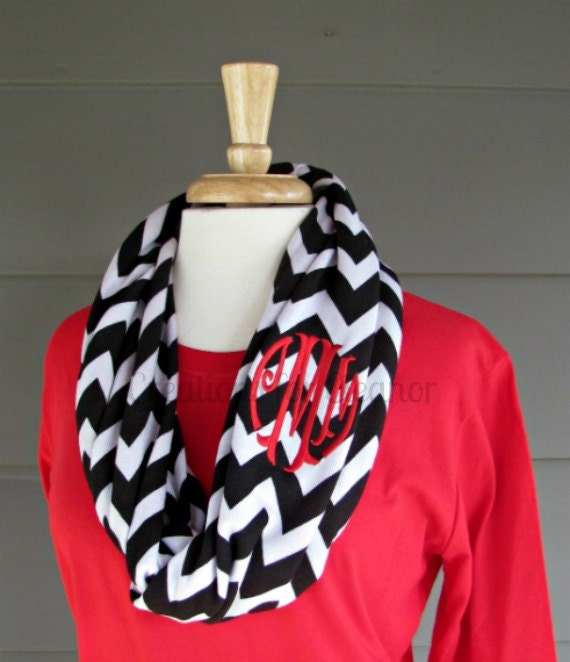 Monogrammed Infinity Scarf, Personalized Infinity Scarf, Infinity Scarves, Infinity Scarf, Personalized Scarf, Monogrammed Scarf, Monogram