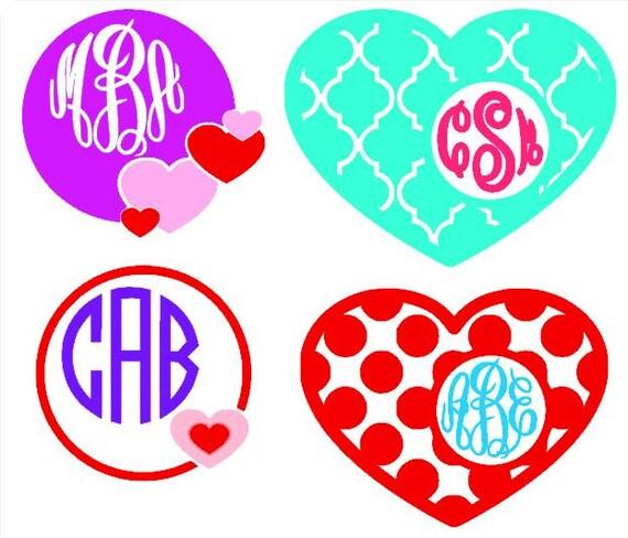 Valentine Monogram Decal, Valentine Decal, Valentine Monogram, Heart Monogram, Heart Decal, Cell Phone Monogram, Cell Phone Decal, Monogram