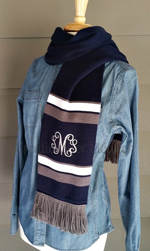Womens Monogrammed Scarf, Monogrammed Scarf, Womens Scarf, Monogrammed Spirit Scarf, Scarf, Monogrammed Scarves, Scarves, Monogram Scarf