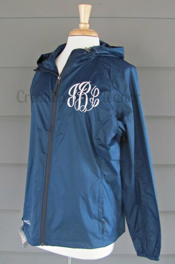 Womens Monogrammed Windbreaker, Monogrammed Windbreaker, Windbreaker, Personalized Windbreaker, Monogrammed Raincoat, Custom Embroidered
