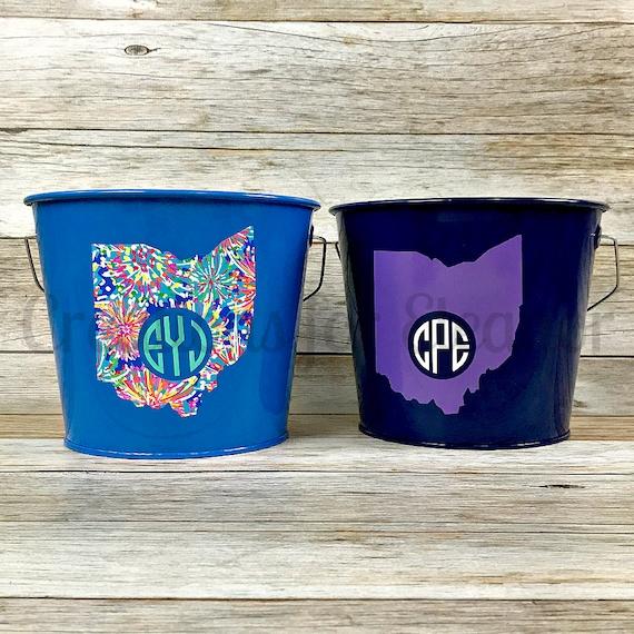 Personalized Bucket, Monogrammed Bucket, Galvanized bucket, Easter Basket, Easter Bucket, Trick or Treat  Teacher Gift, Bridesmaids Gift