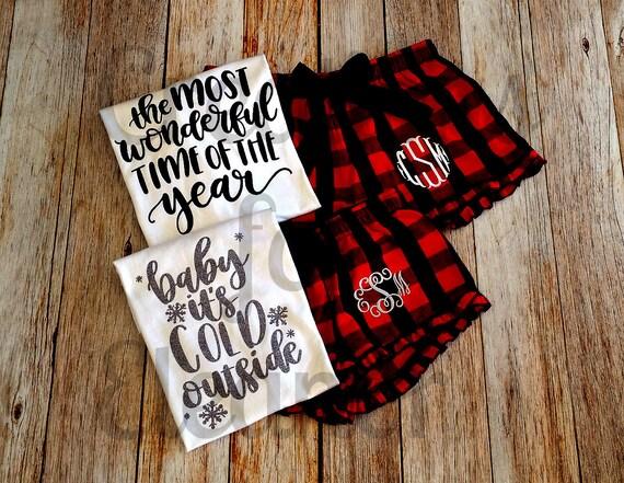 Monogrammed Flannel Boxers, Flannel Boxers, Monogram Boxers, Christmas, Monogrammed Christmas PJs, Christmas Loungewear, Custom Monogram