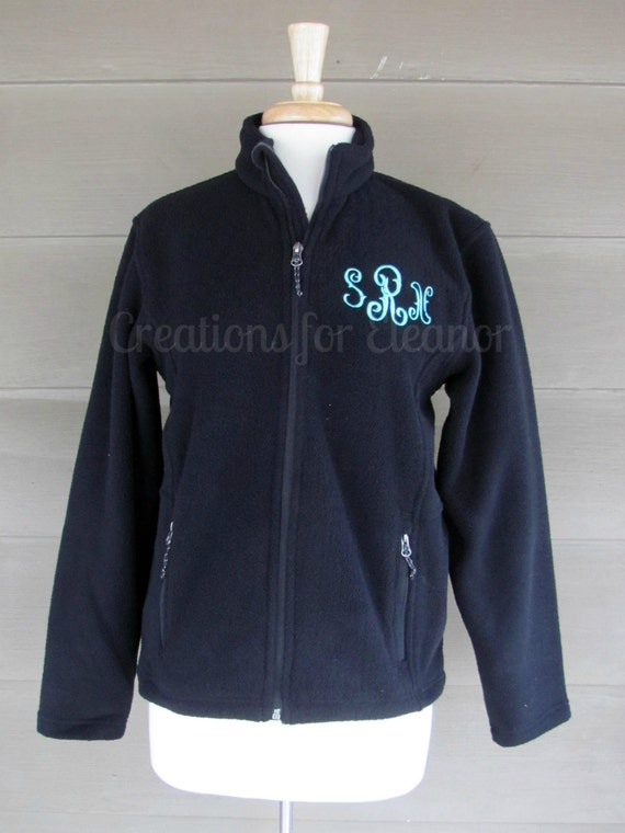Kids Monogrammed Fleece Jacket, Youth Monogrammed Full Zip Fleece Jacket, Children Monogram Jacket, Boys Fleece Jacket, Girls Fleece Jacket