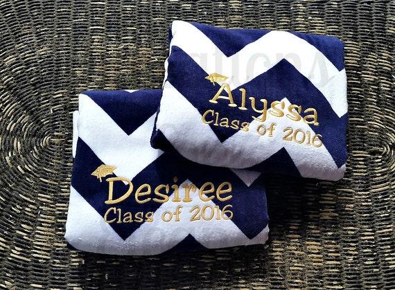 Monogrammed Beach Towel, Graduation Monogram, Graduation Gift, Chevron Beach Towel, Monogrammed Graduation Gift, Graduate Gift, Beach Towel
