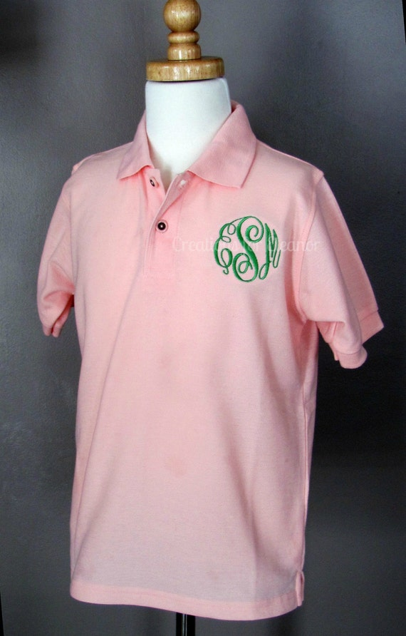 Girls Monogrammed Polo Shirt, Girls Polo Shirt, Girls Monogrammed Shirt, Monogrammed Polo Shirt, Girls Shirt, Girls Uniform Shirt,