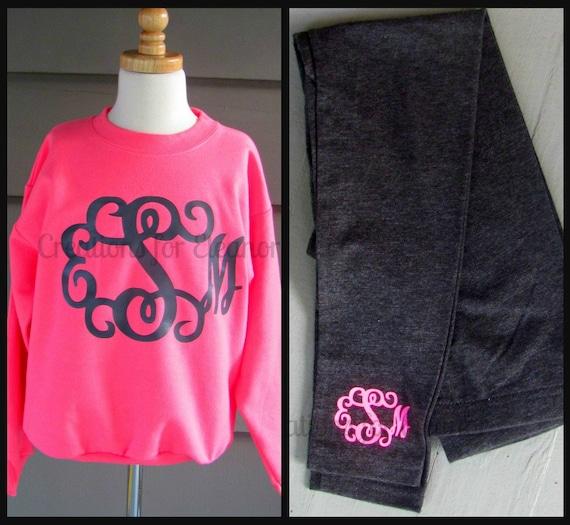 Girls Monogrammed Sweatshirt, Girls Jumbo Monogrammed Sweatshirt, Monogrammed Sweatshirt, Glitter Monogram Sweatshirt, Bow Monogram