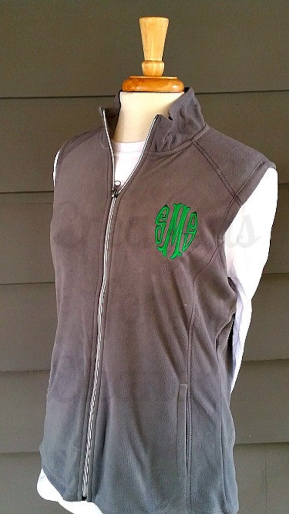 Womens Monogrammed Vest, Monogrammed Fleece Vest, Personalized Vest, Fleece Vest, Personalized Fleece Vest, Monogrammed Coat, Custom Coat