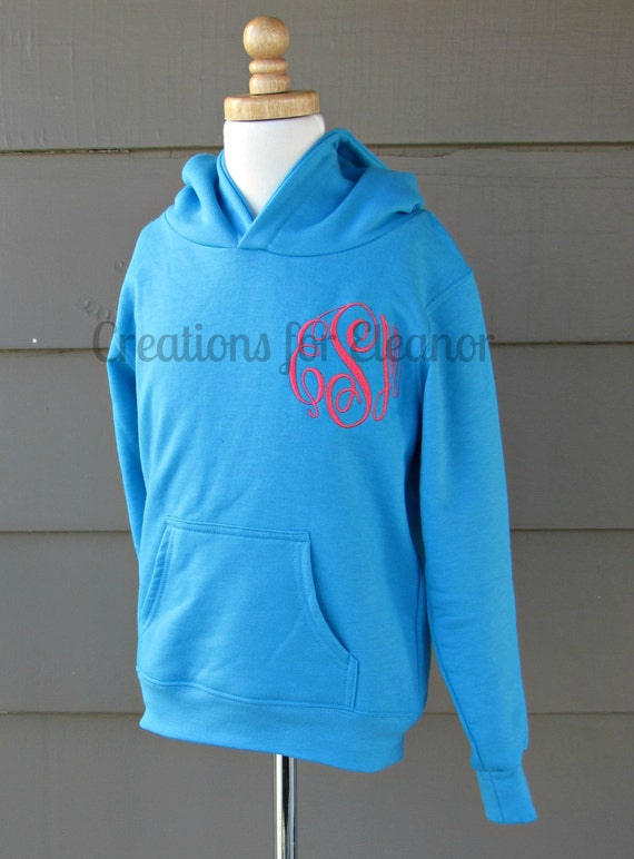 Monogram Sweatshirt, Girls Hoodie, Monogrammed Hoodie, Hoodie, Children's Monogrammed Hooded Sweatshirt, Pullover Hoodie, Monogrammed Hoodie