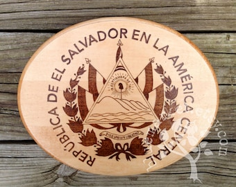 El Salvador Wood Sign - Country Seal or Crest - Perfect for a Wedding Gift or Housewarming Present