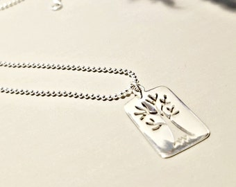Silver Tree Jewelry, Tree Necklace in Sterling Silver, Inspirational Gift