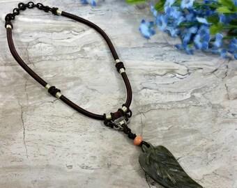 Autumn Botanical Necklace, Fall Leaf Jewelry, Vegan Friendly Gift