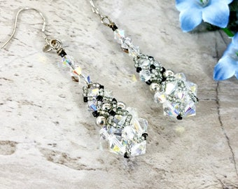 Sweet 16 Jewelry, Crystal Beaded Earrings, Festive Wear