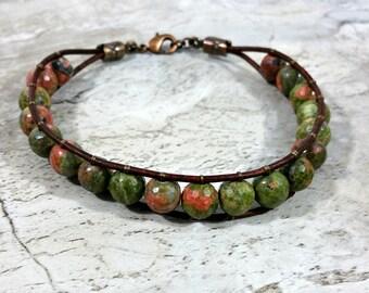 Gemstone Cool Mens Bracelets, Beaded Bracelet, Mens Gift Idea