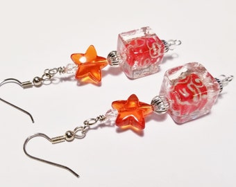 Holiday Earrings, Red Jewelry, Christmas Gift Idea