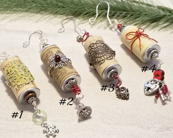 Wine Cork Christmas Ornament, Farmhouse Decor, Wine Lover Gift