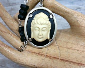 Buddha Necklace, Mindfulness Gift, Yoga Jewelry