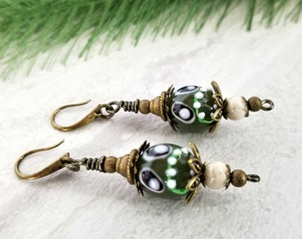 Ghoulish Dangling Earrings, Scary Jewelry