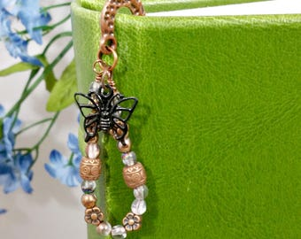 Bookishness Beaded Bookmark, Teacher Appreciation or Thank you Gift