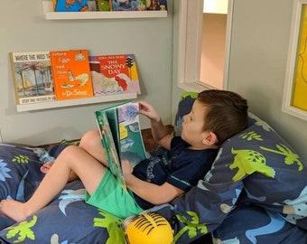 Kids Lounger - Pillow Bed - Nap Mat COVER - Travel Bed