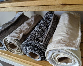 Eco Friendly Non Paper Towels - Reusable, Washable Kitchen Cloths - Absorbent Towel Roll