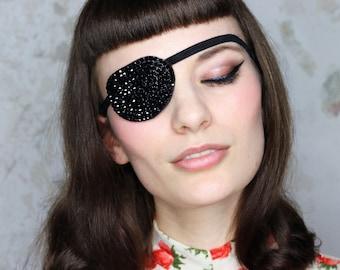 Eye Patch *Black Sparkle* - Rhinestones | Cosplay
