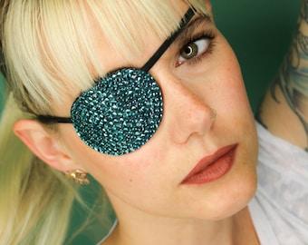 Eye Patch *Turquoise Sparkle* - Rhinestones | Cosplay