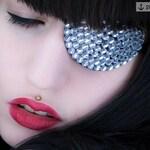 Eye Patch *Snowwhite* - Rhinestones | silver