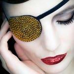 Eye Patch *Golden Sparkle* - Rhinestones