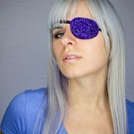 Eye Patch *Blue Sparkle* - Rhinestones