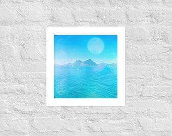Lago Maggiore Lake Photograph, Baby Nursery Wall Art, Dorm Decor, Italy Wall Art, Mediterranean Wall Art, Italian Photography