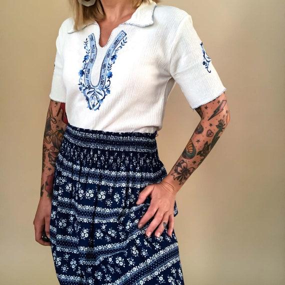 Vintage Floral Maxi Skirt : Medium