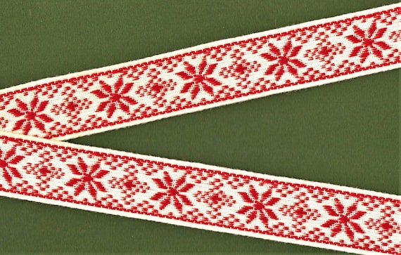 Christmas Ribbon Snowflake Deer Pattern Craft Trim Ribbon Gift Wrapping Ribbon F