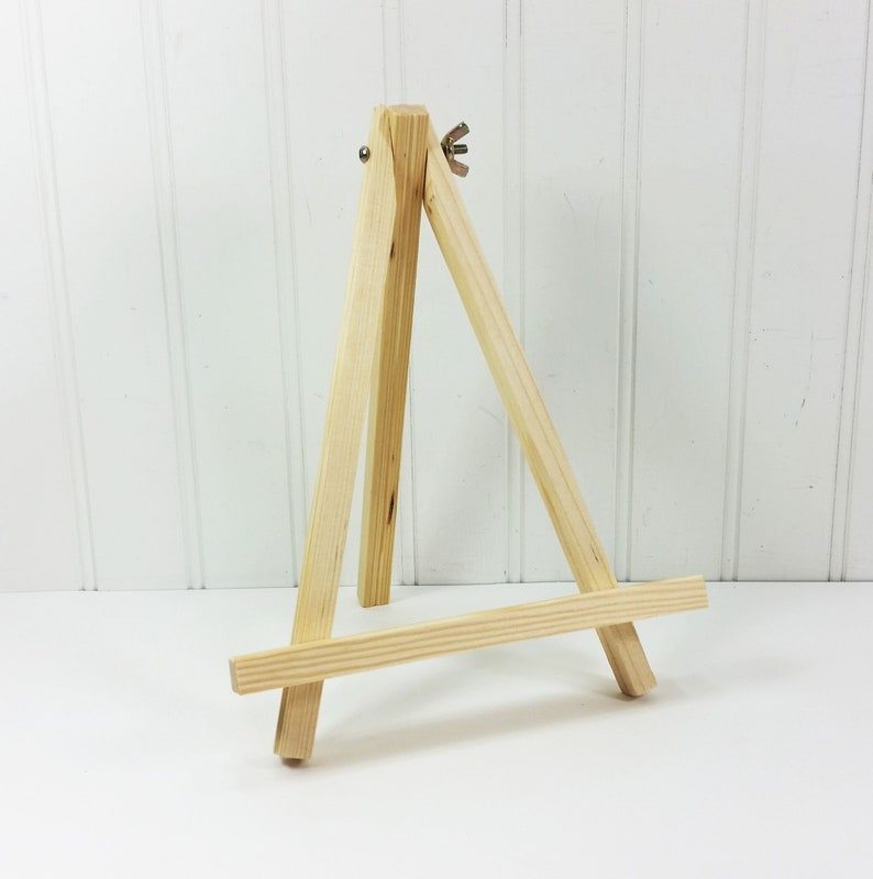 Wood Tabletop Easel 9 inch Natural Pine Display Stand Banquet image 0