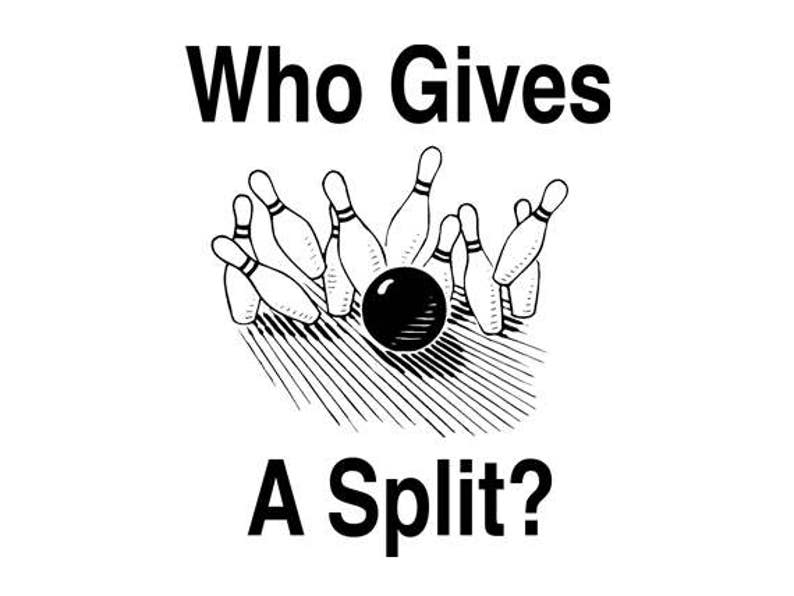 d704962fa2 FUNNY TSHIRT Who Gives A Split Bowling T-Shirt Mens Womens | Etsy