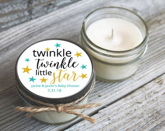 Twinkle Little Star Baby Shower Favor Candles set of 12 4oz