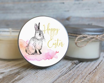 Set of 12 - 4 oz Happy Easter Candles