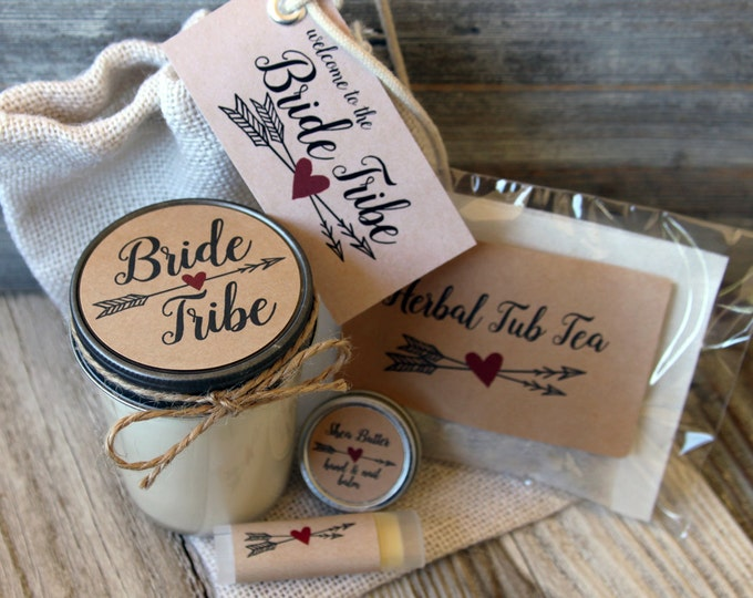 Featured listing image: Will you be my bridesmaid - Kraft  - Bride Tribe - Bridesmaid Proposal Gift - candle -hand balm - lip balm - bath soaking tea for the tub:)