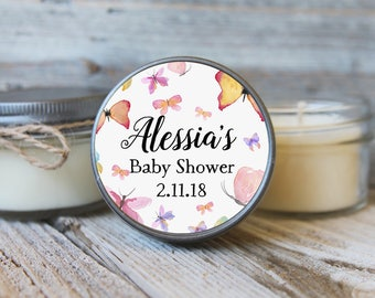 Butterfly Baby Shower- Set of 12 - 4 oz Soy Candle Favor
