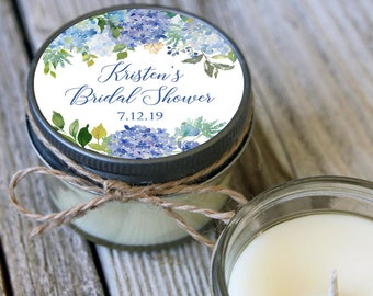 Set of 12 - 4 oz Wedding Favor Candle//Hydrangea Favor//Floral Wedding Favor//Hydrangea Bridal Shower