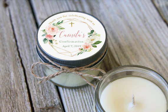 Floral & Greenery Candle Favors Set of 12