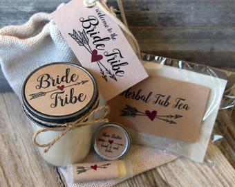 Set of 3 Bride Tribe - Bridesmaid Proposal Gift - Bride Tribe - Kraft Labels