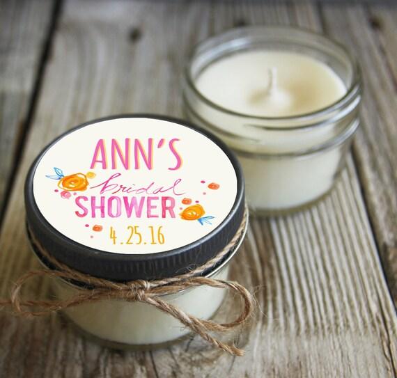 12 - 4 oz Bridal Shower Favor//Floral Favor//Chalkboard//Soy Candle Favor//Personalized Wedding Favor//Shower Favor//Candle Favors//