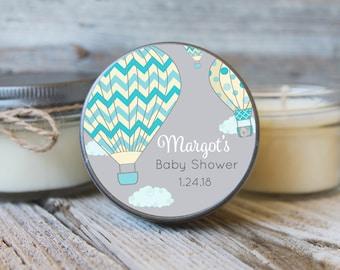 Set of 12 - 4 oz SoyCandle Favor//Hot Air Balloon Baby Shower//Girl Baby Shower//Boy Baby Shower//Balloon Baby Shower/Baby Shower Favor